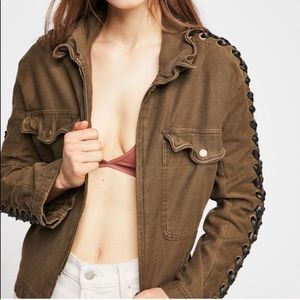 Free People military jacket NWOT